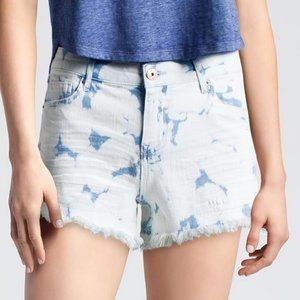 Nwt's Vanilla Star Tie Dye High Low Shortie Shorts